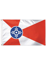 Wichita 3x5 Red Silk Screen Grommet Flag