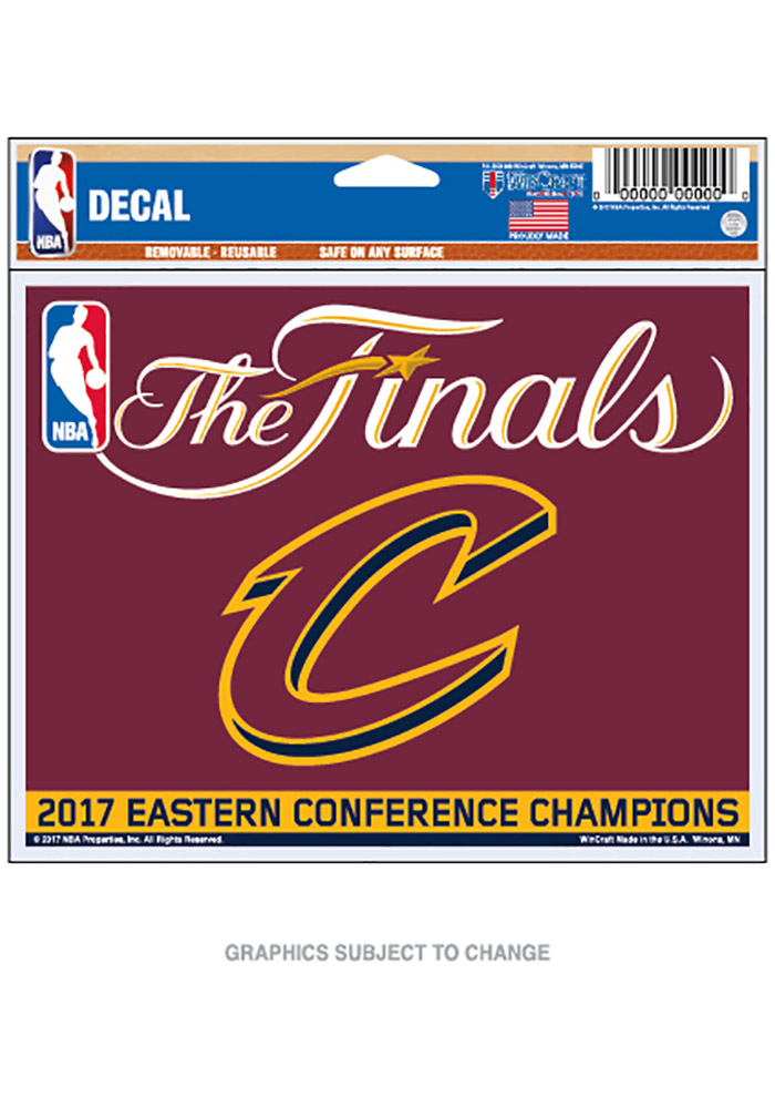 Cleveland Cavaliers 2017 Conference Champions Auto Decal - Maroon - Image 1