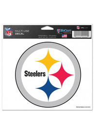 Pittsburgh Steelers 5x6 Multi Use Auto Decal - White