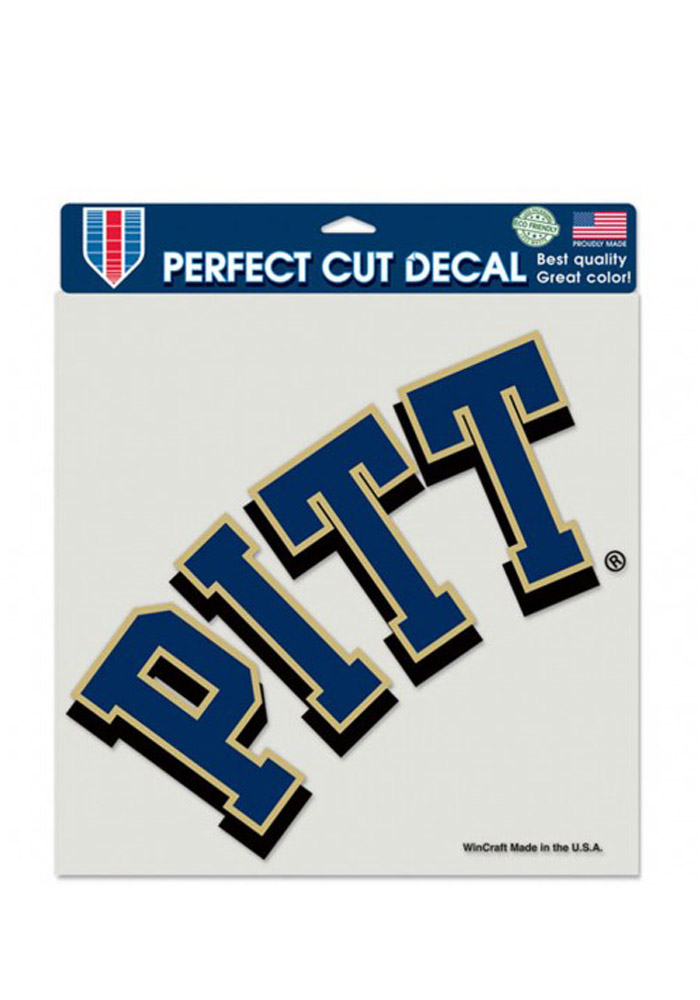 Pitt Panthers 8x8 Perfect Cut Decal - Image 1