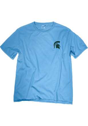 Michigan State Spartans Womens Light Blue Flags Up Unisex Tee