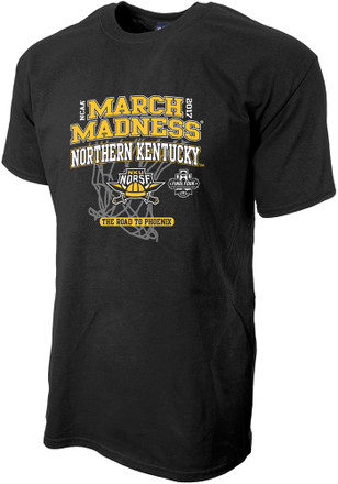 NKU Norse Mens Black March Madness Bound Tee
