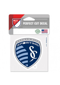 Sporting Kansas City Perfect Cut Auto Decal - Blue