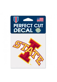 Iowa State Cyclones Perfect Cut Auto Decal - Cardinal