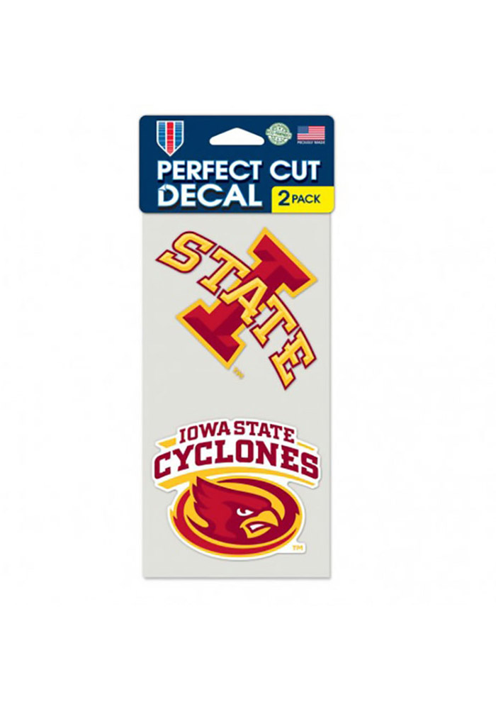Iowa State Cyclones 2 Pack Perfect Cut Auto Decal - Cardinal