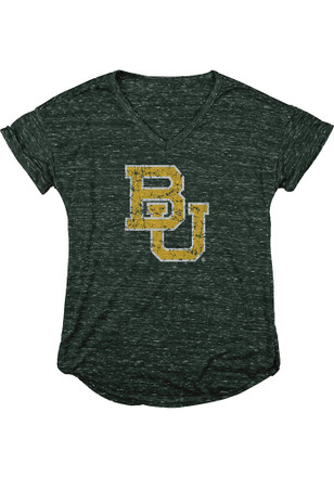 Baylor Bears Womens Green Confetti V-Neck 4ed002025