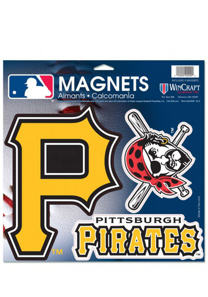 Pittsburgh Pirates 11x11 Multi Pack Car Accessory Car Magnet - Image 1