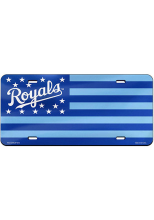 Kansas City Royals Stars and Stripes Car Accessory License Plate