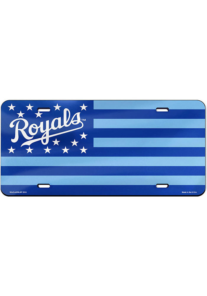 Kansas City Royals Stars and Stripes Car Accessory License Plate - Image 1