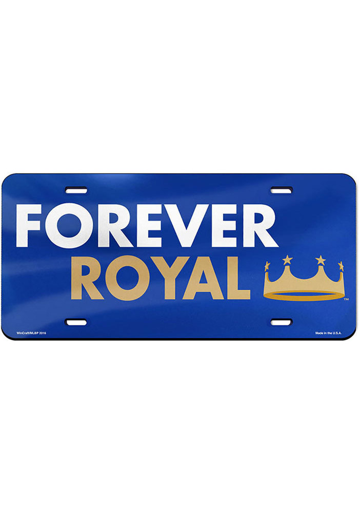 Kansas City Royals Forever Royal Glossy Car Accessory License Plate - Image 1