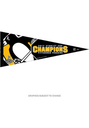 Pittsburgh Penguins 2017 Stanley Cup Champions Pennant