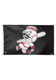 Cincinnati Reds Cooperstown Red Silk Screen Grommet Flag