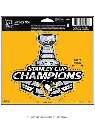 Pittsburgh Penguins 2017 Stanley Cup Champions Decal