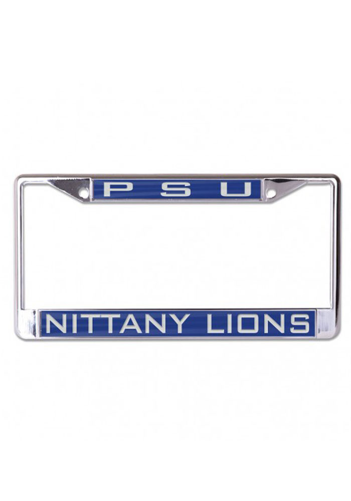 Penn State Nittany Lions Chome Inlaid License Frame