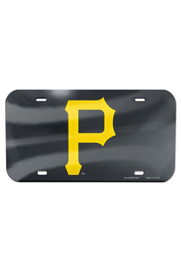 Pittsburgh Pirates Team Logo Black Car Accessory License Plate - Image 1