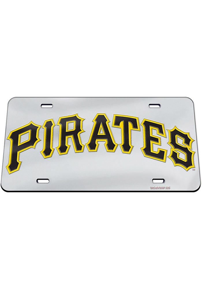 Pittsburgh Pirates Jersey Logo Inlaid Car Accessory License Plate - Image 1