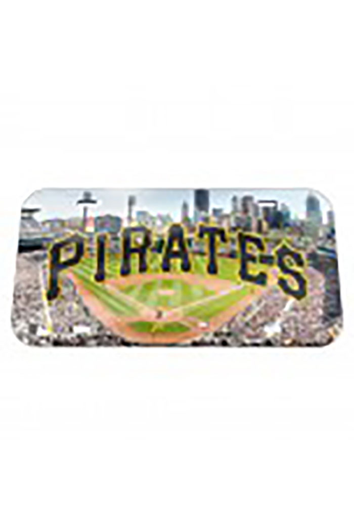 Pittsburgh Pirates Stadium Crystal Mirror Car Accessory License Plate - Image 1