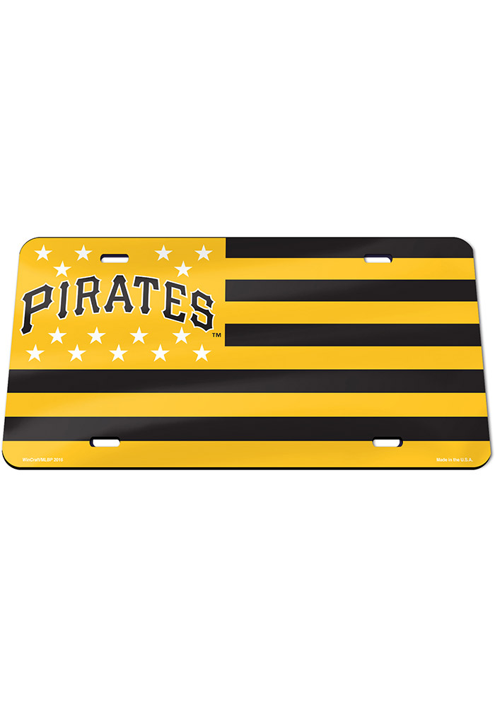Pittsburgh Pirates Stars and Stripes Car Accessory License Plate - Image 1