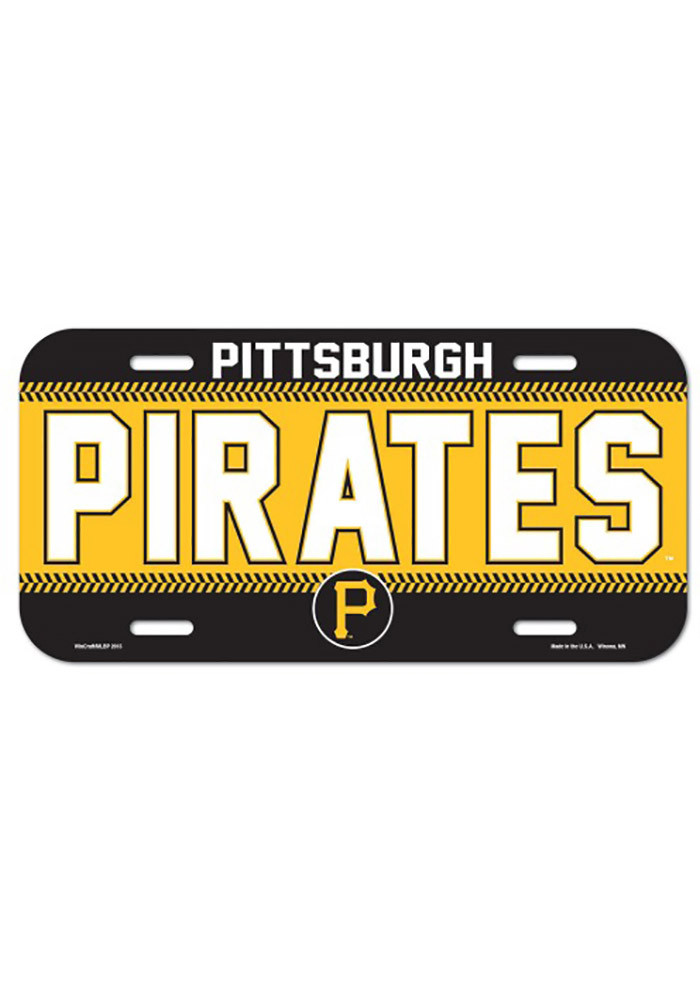 Pittsburgh Pirates Team Name Plastic Car Accessory License Plate - Image 1