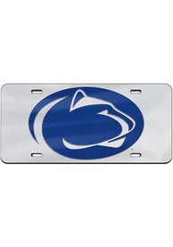 Penn State Nittany Lions Team Logo Silver Car Accessory License Plate