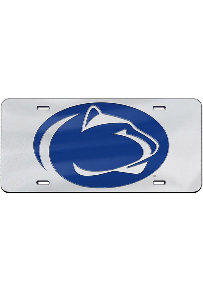 Penn State Nittany Lions Team Logo Silver Car Accessory License Plate - Image 1