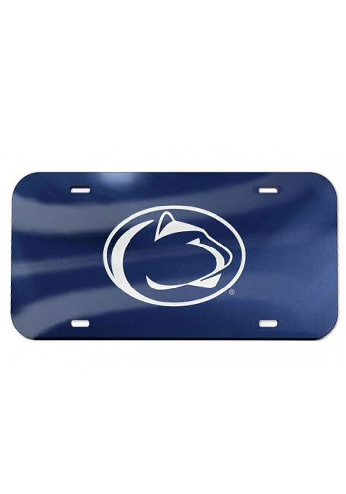 Penn State Nittany Lions Team Logo Navy Car Accessory License Plate - Image 1