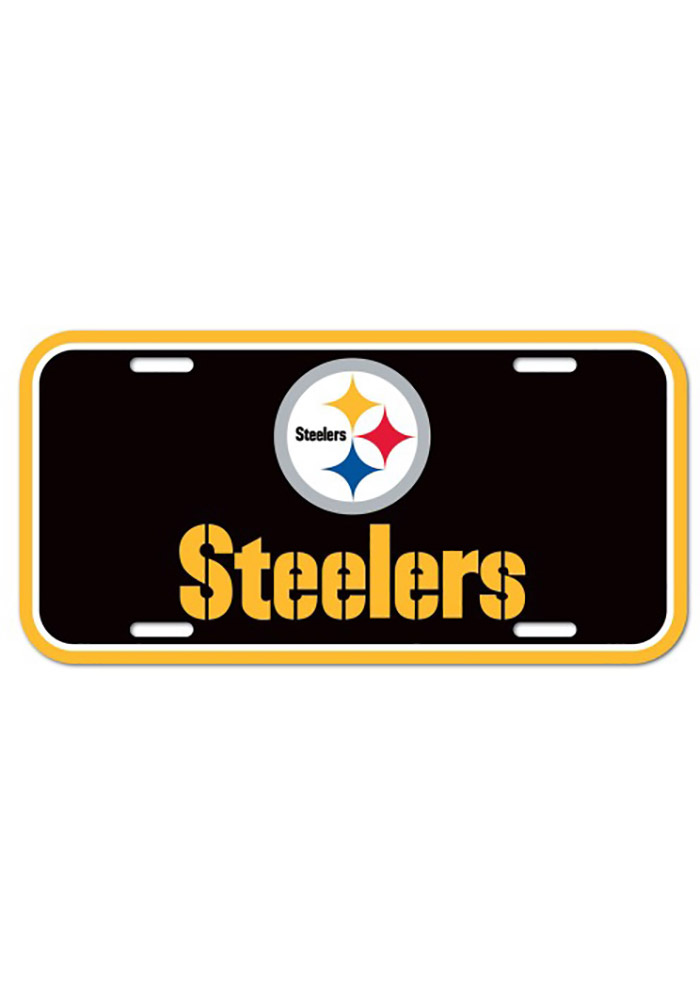 Pittsburgh Steelers Plastic Car Accessory License Plate - Image 1