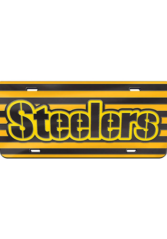Pittsburgh Steelers Alternate Team Jersey Car Accessory License Plate - Image 1