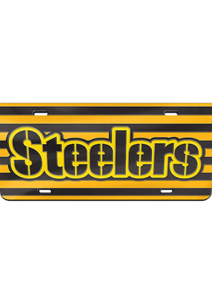 Pittsburgh Steelers Alternate Team Jersey Car Accessory License Plate