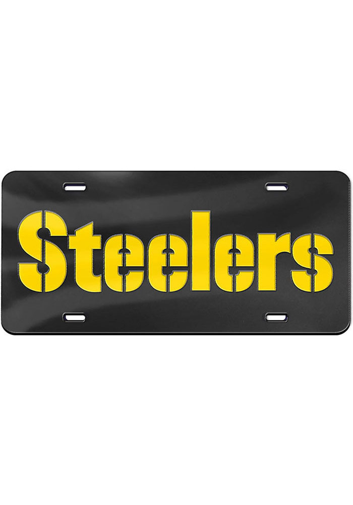Pittsburgh Steelers Wordmark Car Accessory License Plate - Image 1