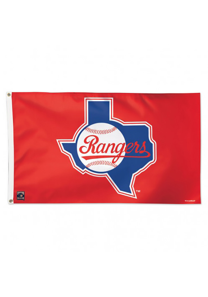 Texas Rangers Cooperstown Silk Screen Flag - Image 1