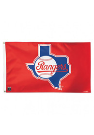 Texas Rangers Cooperstown Silk Screen Flag
