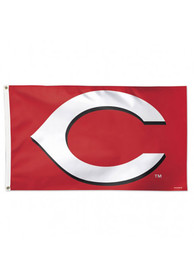 Cincinnati Reds Alternate Background Red Silk Screen Grommet Flag
