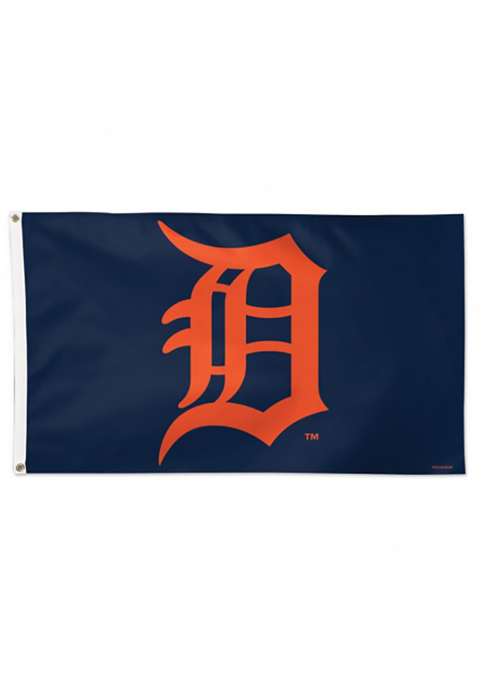 Detroit Tigers Alternate Logo Silk Screen Flag - Image 1