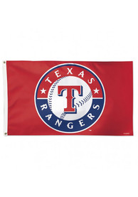 Texas Rangers Alternate Background Silk Screen Flag