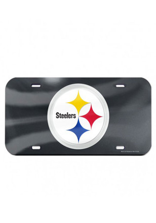 Pittsburgh Steelers Team Logo Black Car Accessory License Plate