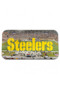 Pittsburgh Steelers Stadium Crystal Mirror Car Accessory License Plate