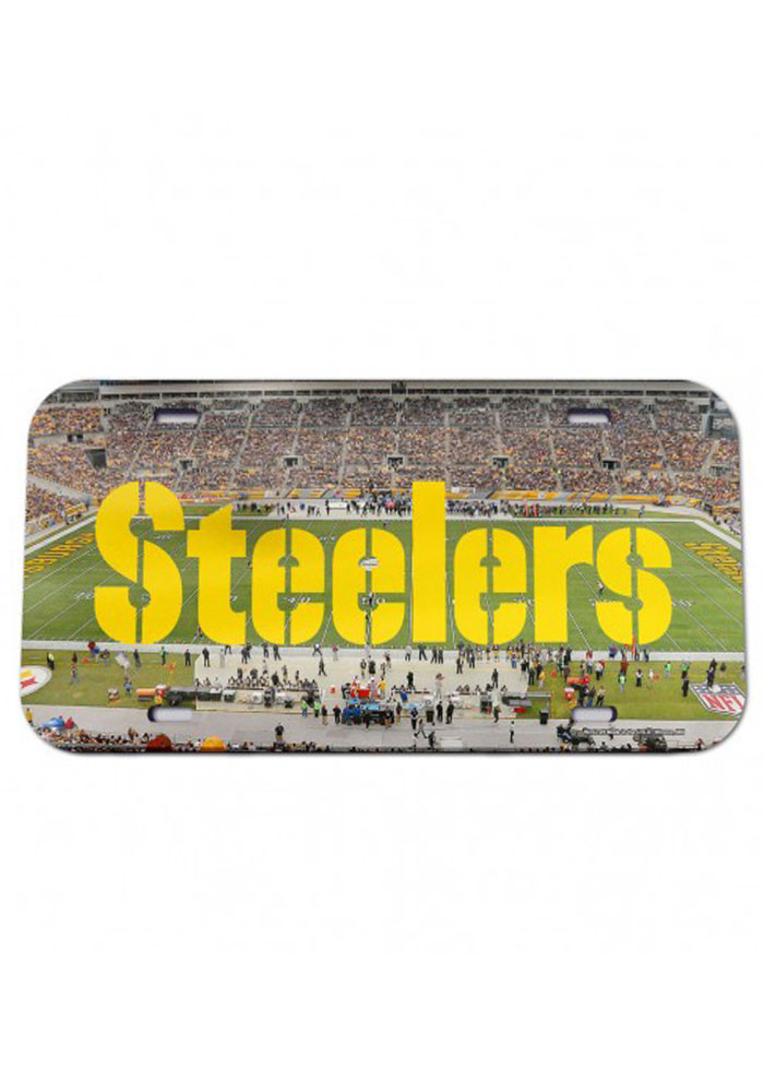 Pittsburgh Steelers Stadium Crystal Mirror Car Accessory License Plate - Image 1