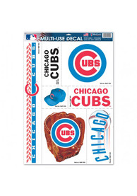 Chicago Cubs Variety Pack Auto Decal - Blue