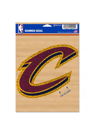 Cleveland Cavaliers Shimmer Auto Decal - Maroon