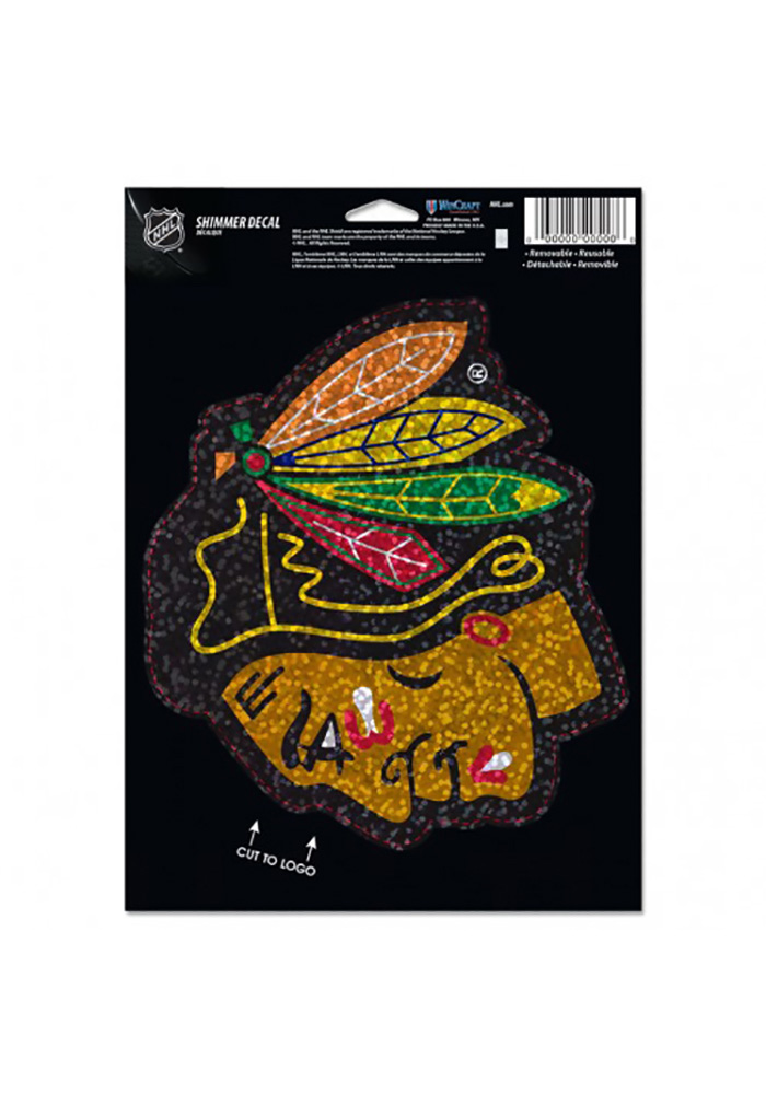 Chicago Blackhawks Shimmer Auto Decal - Red - Image 1