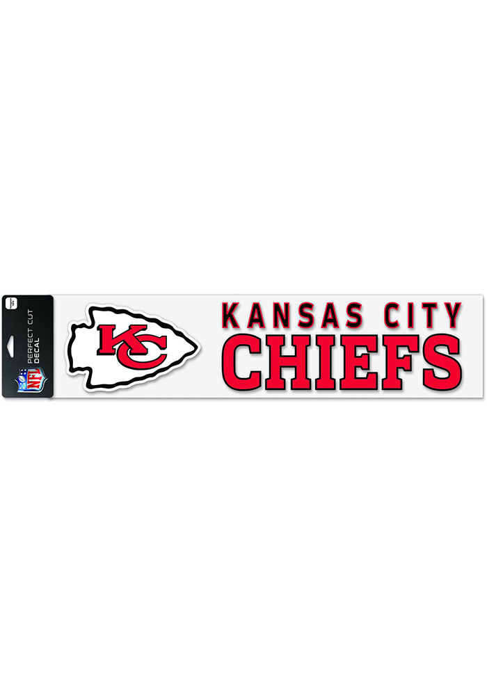 Kansas City Chiefs 4x17 Perfect Cut Auto Decal - Red - Image 1