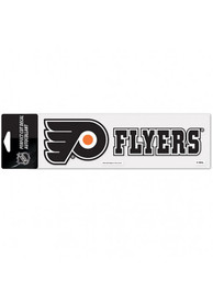 Philadelphia Flyers Logo and Script Auto Decal - Black