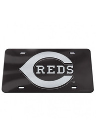 Cincinnati Reds Crystal Mirror Car Accessory License Plate