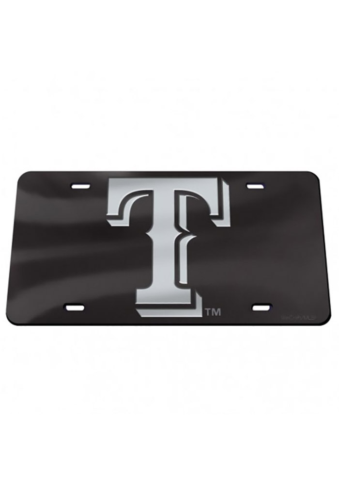 Texas Rangers Crystal Mirror Car Accessory License Plate - Image 1