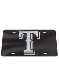 Texas Rangers Crystal Mirror Car Accessory License Plate