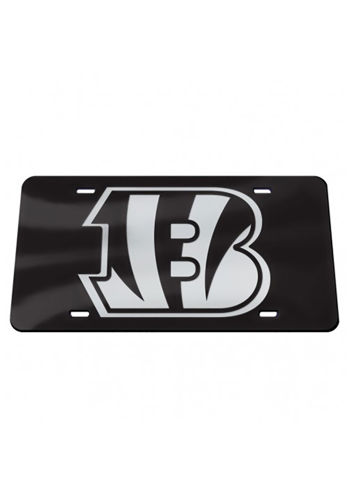 Cincinnati Bengals Chrome Car Accessory License Plate