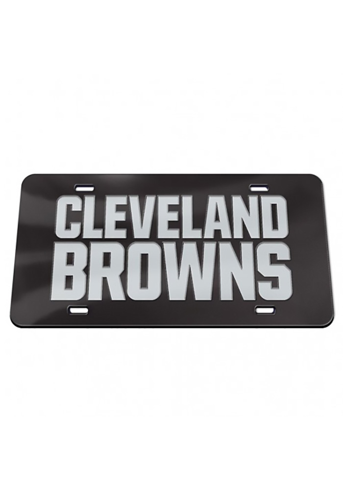 Cleveland Browns Chrome Car Accessory License Plate - Image 1