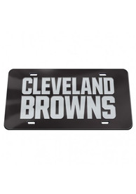 Cleveland Browns Chrome Car Accessory License Plate