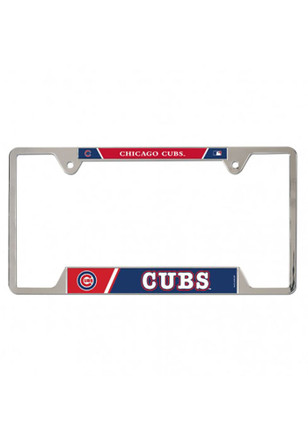 Chicago Cubs Metal Car Accessory License Plate
